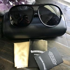Chrome Hearts Lunch Box Black Aviators